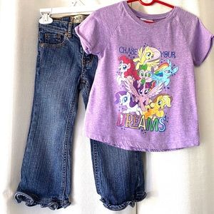 Lot Of 2 Children's Place/My Little Pony Jeans&Top